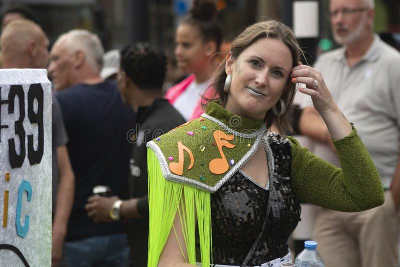 Festival 2019 del verano de Rotterdam paradecarnaval fotografía de archivo libre de regalías