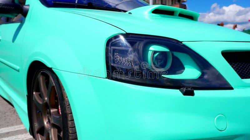 Festival dell'automobile nella città di Tula Federazione Russa Estate 2015 stock footage