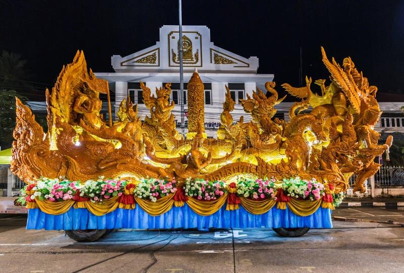 Festival della Tailandia della statua della cera immagini stock libere da diritti