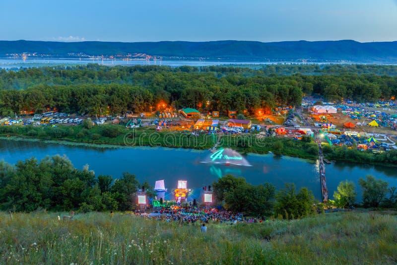Festival della Tutto Russia della canzone del ` s dell'autore nominata dopo Valery Grushin immagine stock libera da diritti