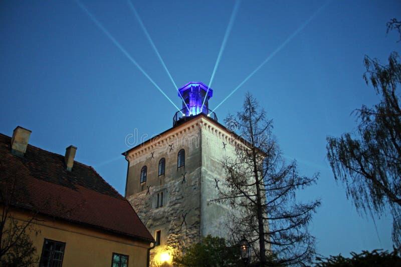 Festival delle luci a Zagabria, Croazia, Europa, details4 immagine stock