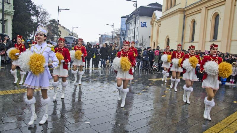 Festival der Majorettes auf der Straße lizenzfreies stockfoto