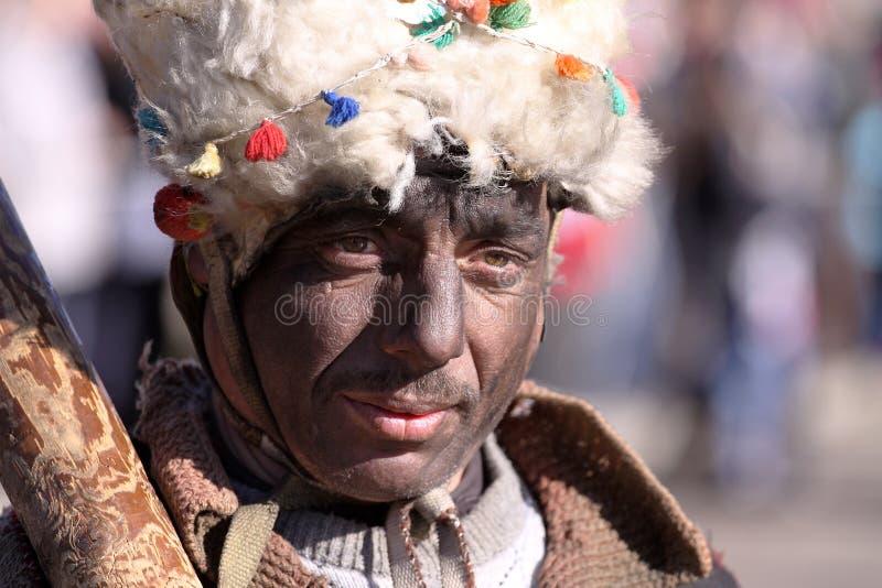 Festival der Maskerade-Spiele Surova in Pernik, Bulgarien stockfoto
