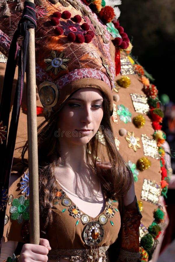 Festival der Maskerade-Spiele Surova in Pernik, Bulgarien stockbild