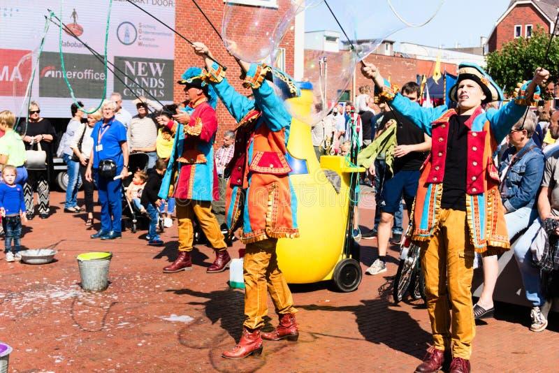 Festival der Straßekunst Niederlande-Winschoten Waterbei stockbild