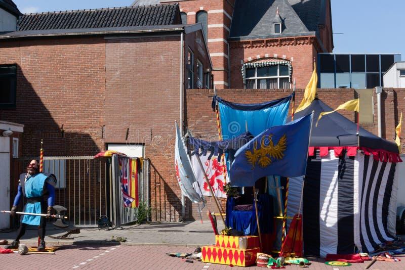 Festival der Straßekunst Niederlande-Winschoten Waterbei stockbilder