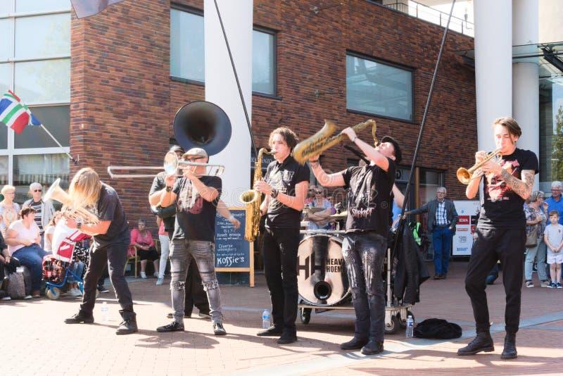 Festival der Straßekunst Niederlande-Winschoten Waterbei stockfotografie