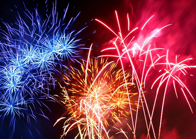 Festival des feux d'artifice photo stock