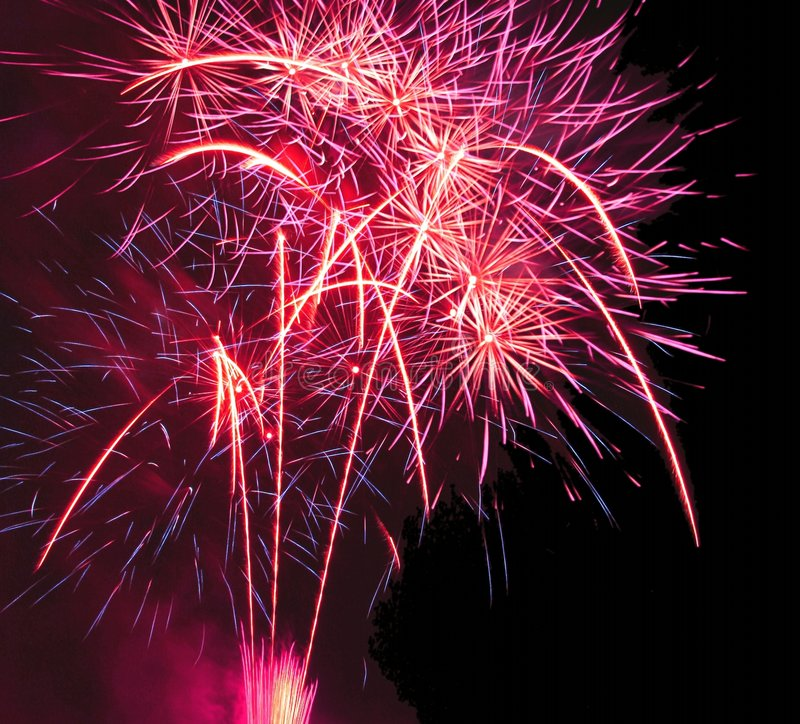 Festival des feux d'artifice photo libre de droits