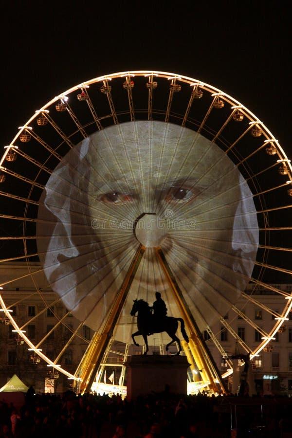 Festival des lumières 2009 à Lyon photo stock