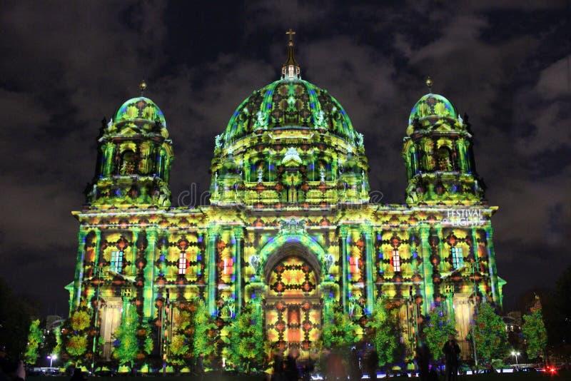 Festival des lumières Berlin photo stock