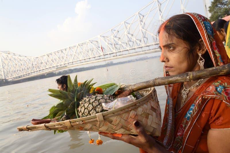 Festival di Chhath immagine stock