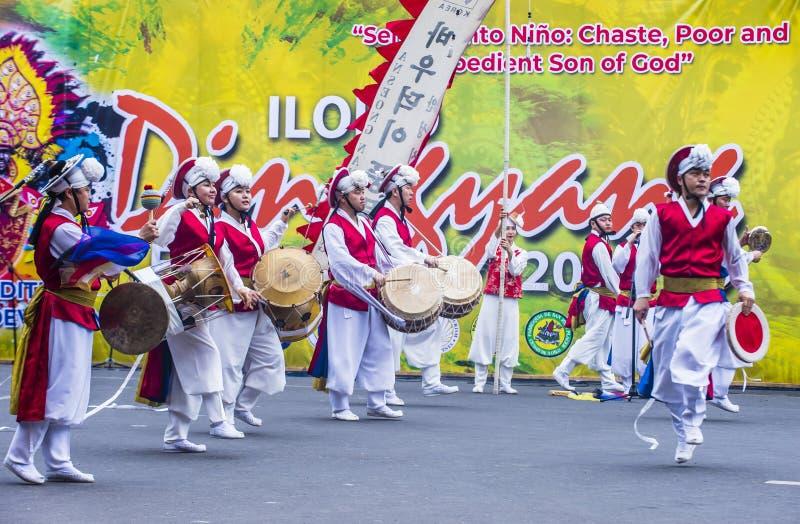 Festival 2018 di Dinagyang immagine stock libera da diritti