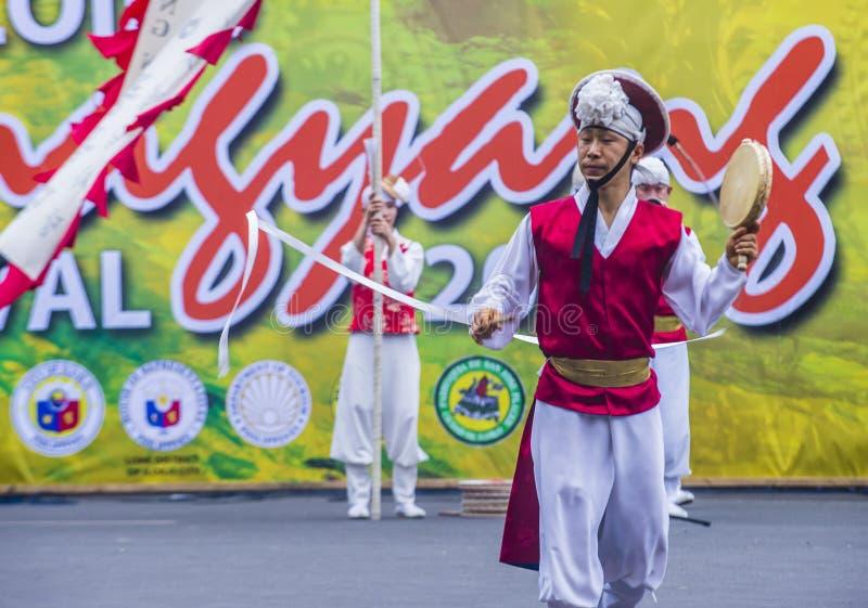 Festival 2018 di Dinagyang fotografia stock libera da diritti