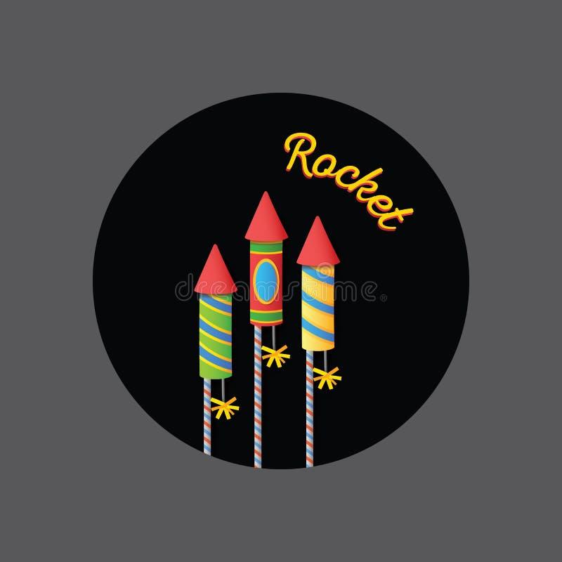 Festival di Diwali cracker del fuoco Rocket Colourful fotografia stock libera da diritti