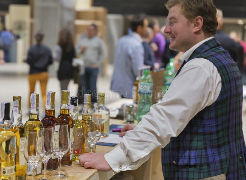 Festival di Dram del whiskey a Kiev, Ucraina immagini stock libere da diritti