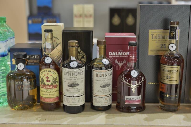 Festival di Dram del whiskey a Kiev, Ucraina immagini stock