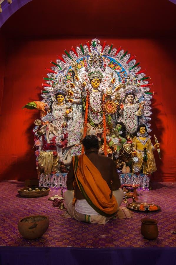 Festival di Durga Puja in Calcutta, India immagine stock