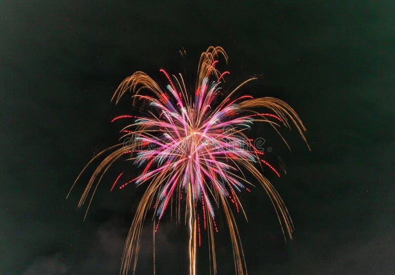 Festival 2017 di estate dei fuochi d'artificio fotografie stock libere da diritti