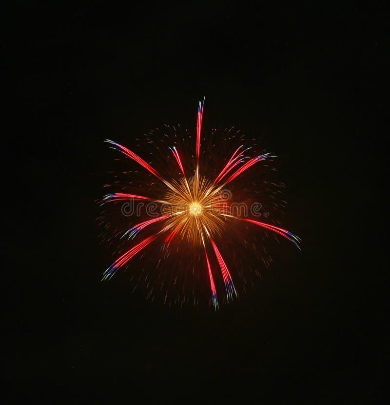 Festival 2017 di estate dei fuochi d'artificio del Giappone immagine stock libera da diritti