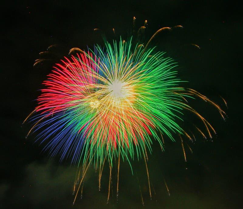 Festival 2017 di estate del Giappone dei fuochi d'artificio fotografie stock