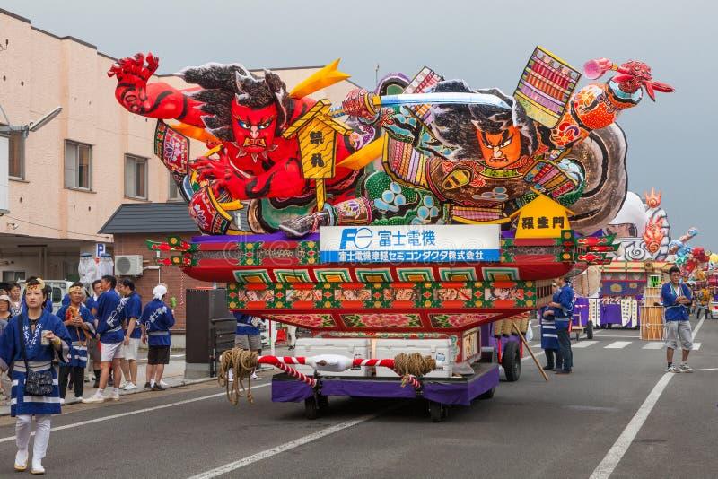Festival di Goshogawara Tachi Neputa (galleggiante stante) fotografia stock libera da diritti