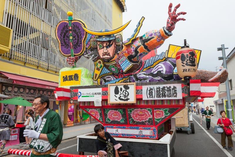 Festival di Goshogawara Tachi Neputa (galleggiante stante) immagini stock libere da diritti