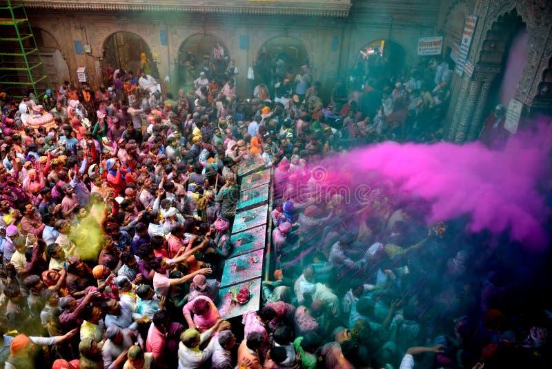 Festival di Holi all'India fotografia stock libera da diritti