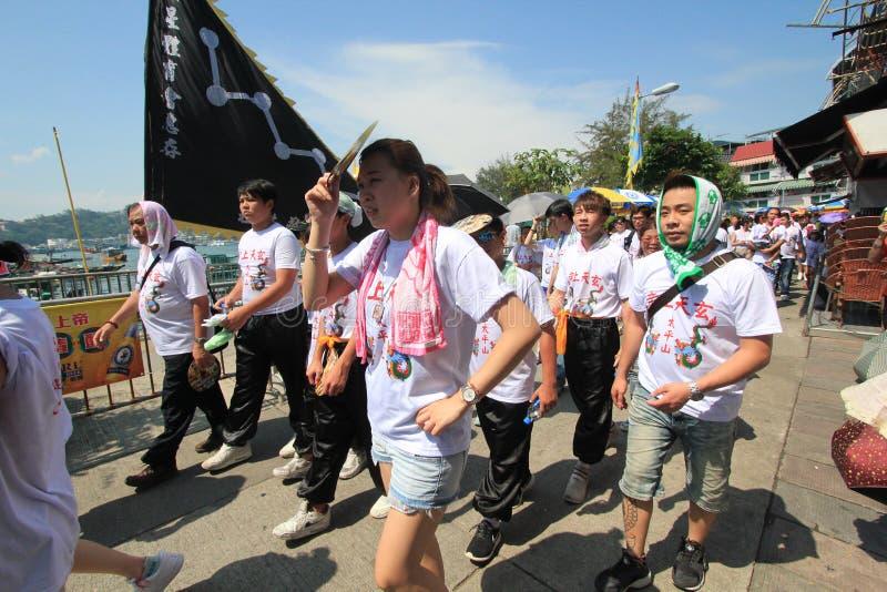 Festival 2015 di Hong Kong Cheung Chau Bun immagini stock libere da diritti