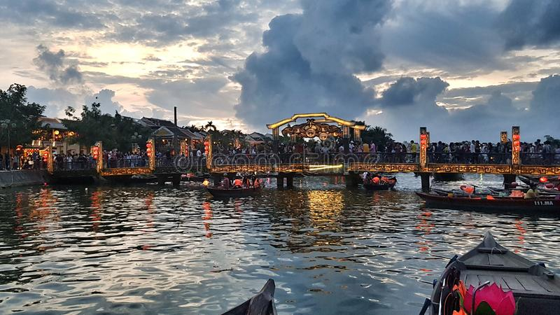 Festival di lanterna Hoi An fotografie stock libere da diritti