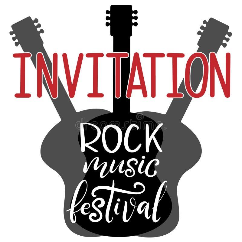 Festival di musica che segna l'illustrazione con lettere di vettore illustrazione vettoriale
