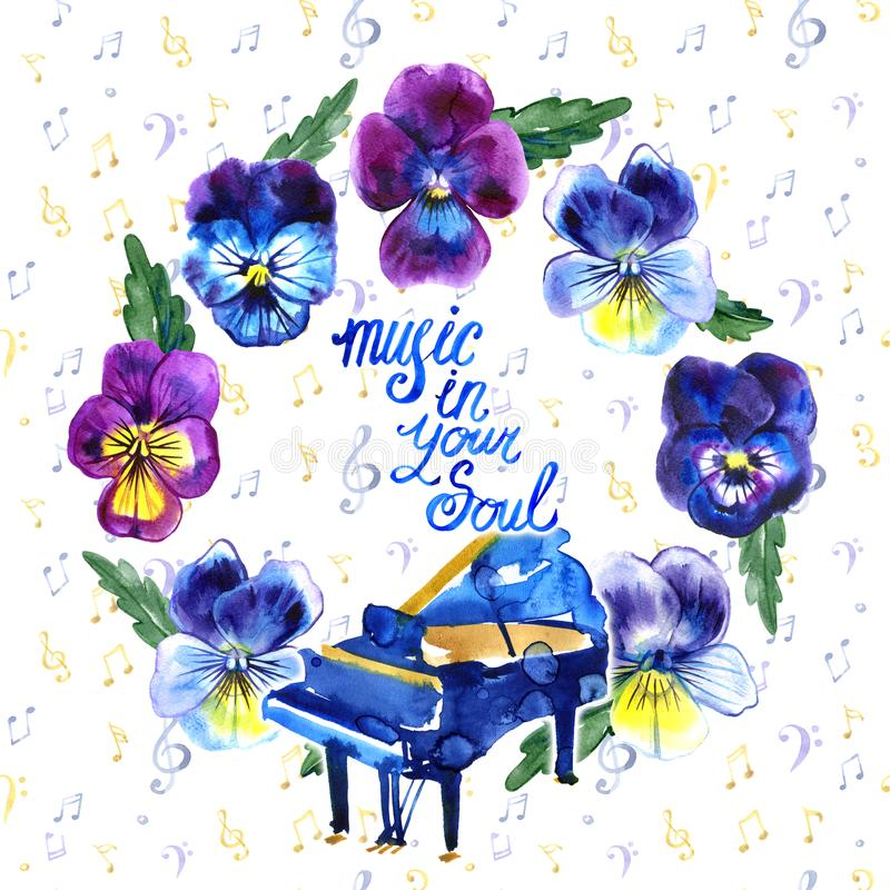 Festival di musica di jazz e dei blu di concerto di estate Modello del fondo del manifesto royalty illustrazione gratis