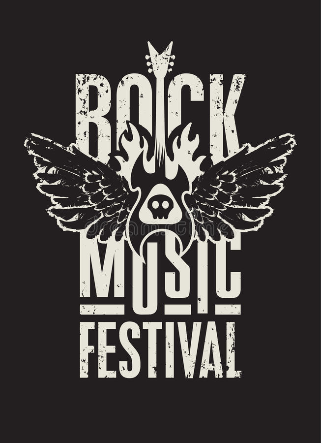 Festival di musica rock illustrazione di stock