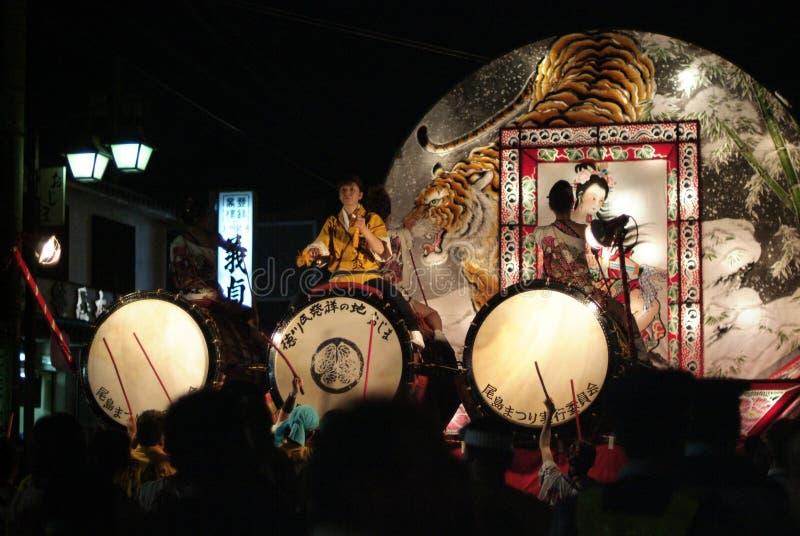 Festival di Ojima Nebuta Matsuri/Ojima Nebuta immagini stock libere da diritti
