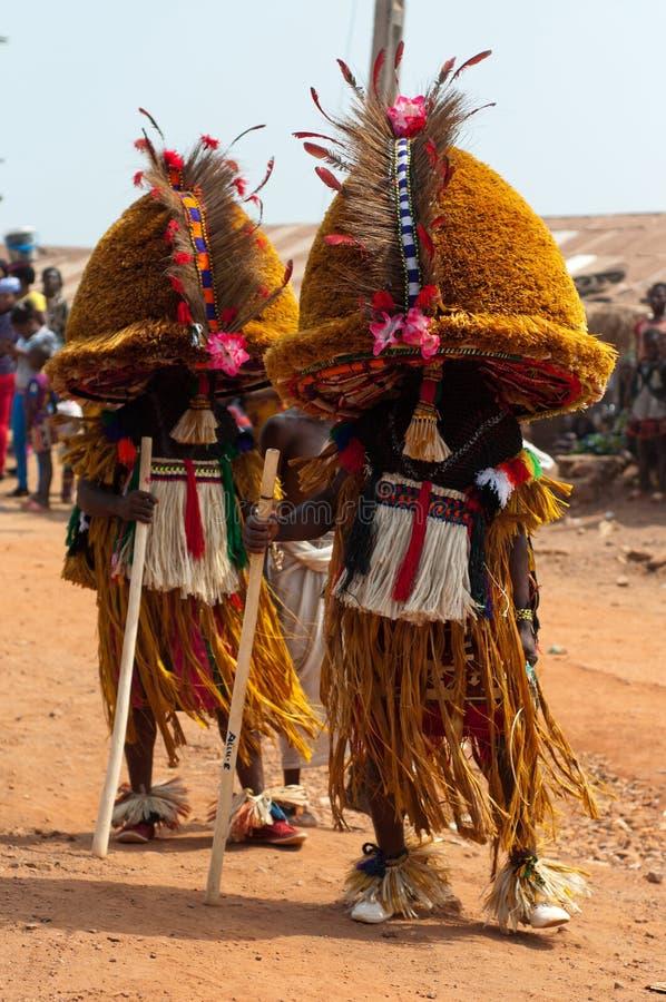 Festival di Otuo Ukpesose - il Itu si maschera in Nigeria fotografie stock libere da diritti