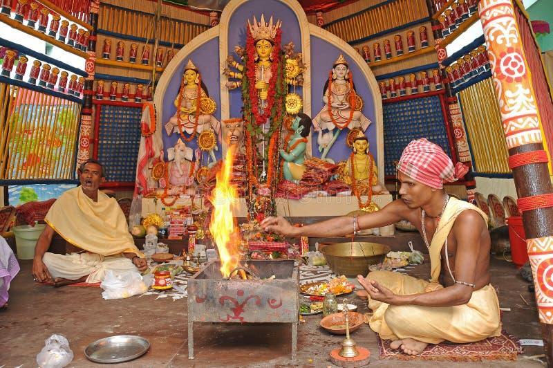 Festival di puja di Durga fotografia stock libera da diritti