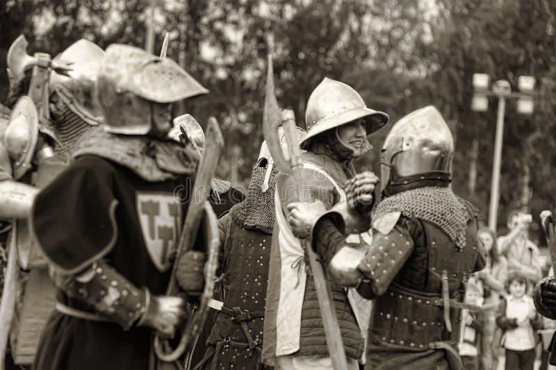 Festival di ricostruzione militare-storica e di cultura medievale fotografia stock