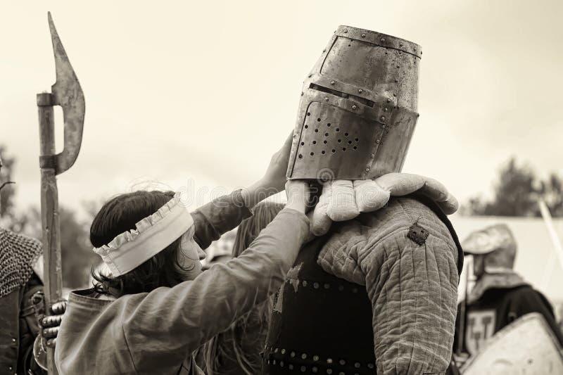 Festival di ricostruzione militare-storica e di cultura medievale immagine stock