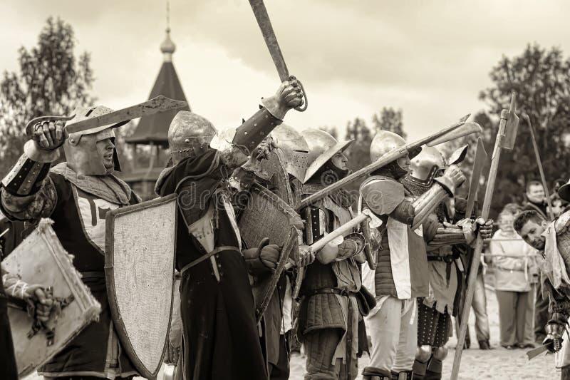 Festival di ricostruzione militare-storica e di cultura medievale fotografia stock libera da diritti