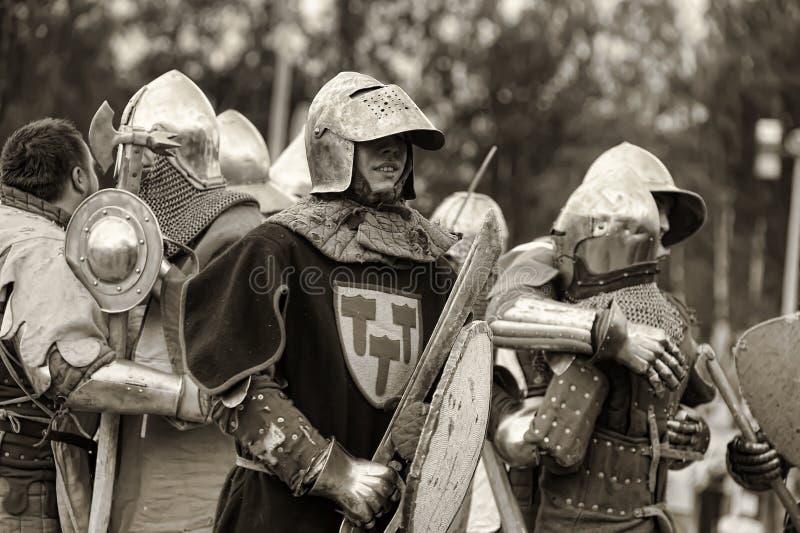 Festival di ricostruzione militare-storica e di cultura medievale fotografie stock libere da diritti