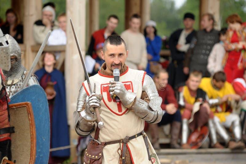 Festival di ricostruzione militare-storica e di cultura medievale fotografie stock