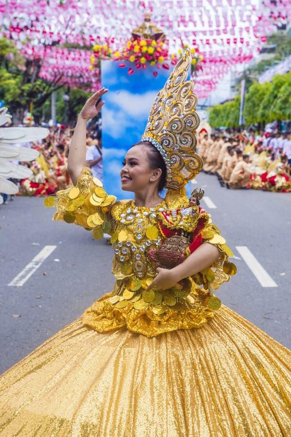 Festival 2019 di Sinulog fotografia stock libera da diritti