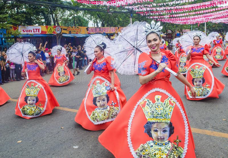 Festival 2019 di Sinulog fotografia stock