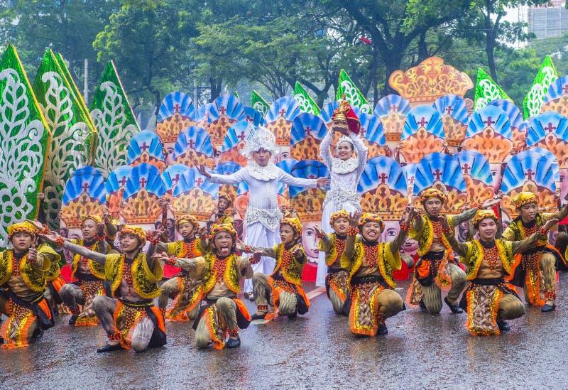 Festival 2019 di Sinulog immagini stock libere da diritti