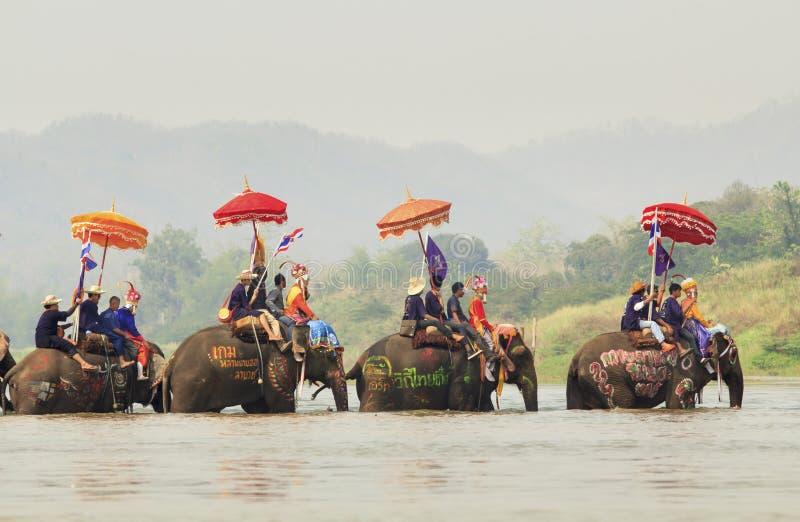 Festival di Songkran, Sukuthai Tailandia immagini stock libere da diritti