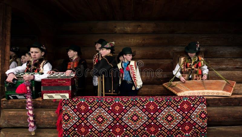 Festival di Vasylya che celebra nel TransCarpathia fotografie stock
