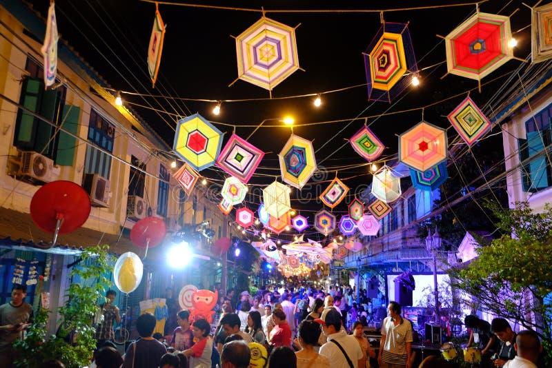 festival do à¸'street em Banguecoque fotos de stock