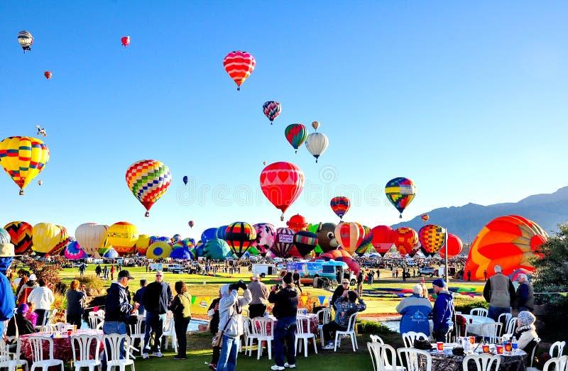 Festival do balão de Albuquerque em New mexico imagem de stock royalty free