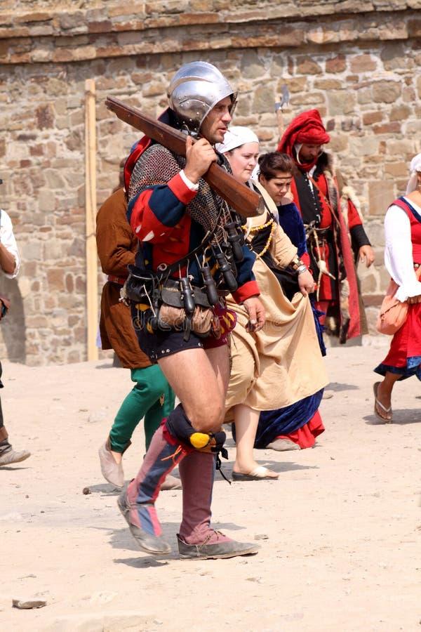 Festival do capacete de Genoa fotos de stock royalty free