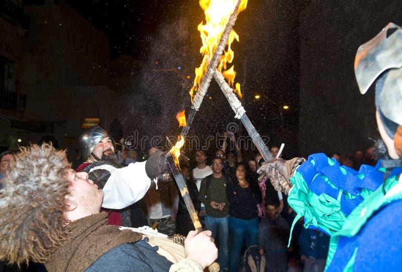 Festival do cavaleiro de Jerusalem imagens de stock